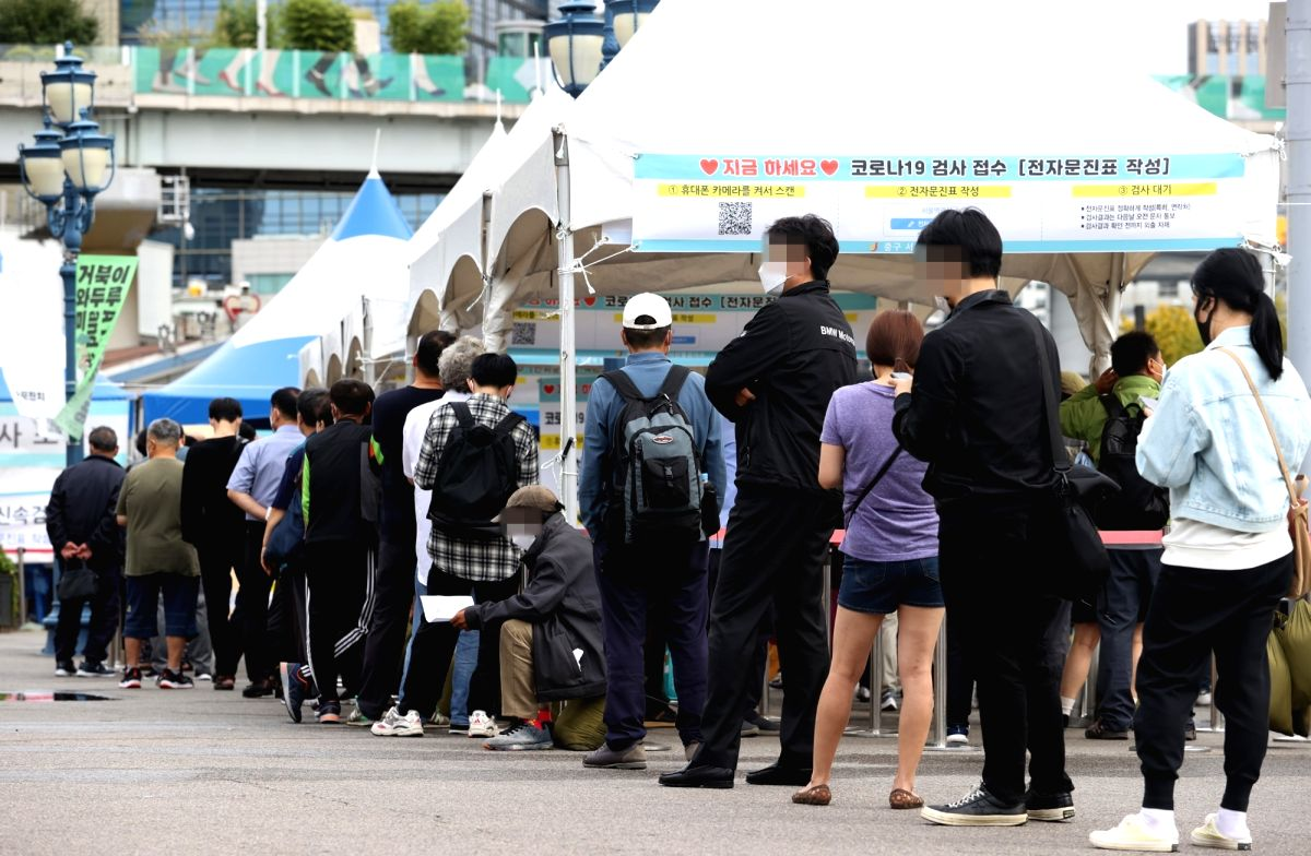 Daily virus cases in Seoul exceed 1,000 for first time.(pic credit: yonhapnewsagency/IANS)