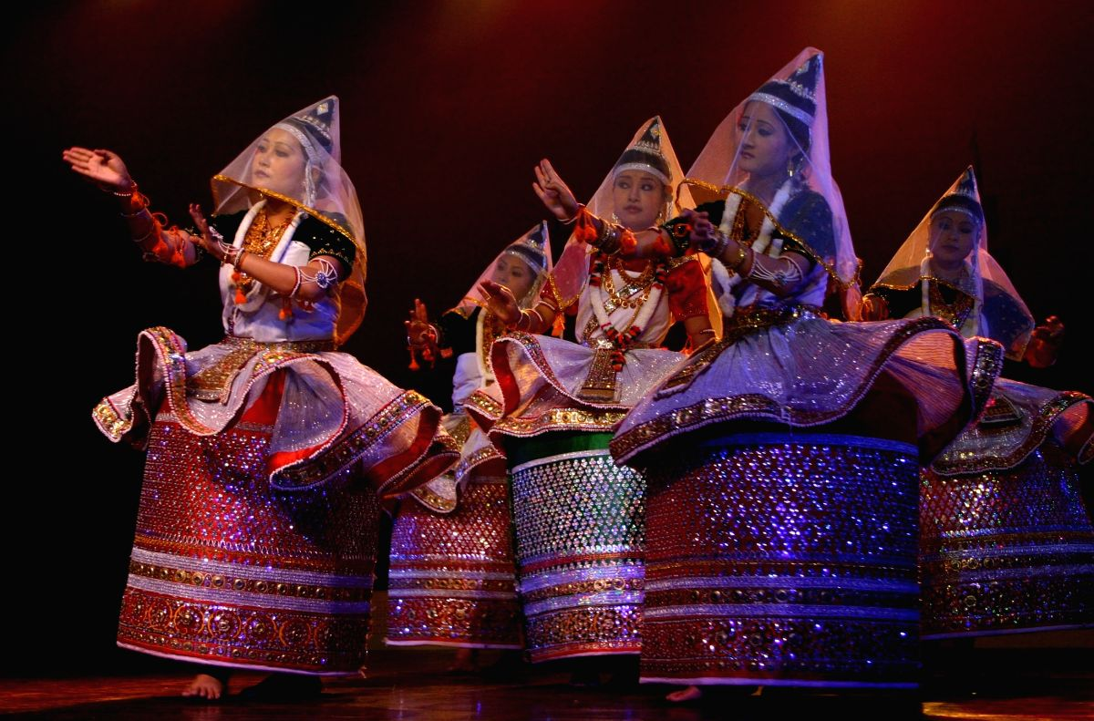 Dance performance at the festival of traditional dance and music of north-east India orginzed by Indian Council for Culture Relations.