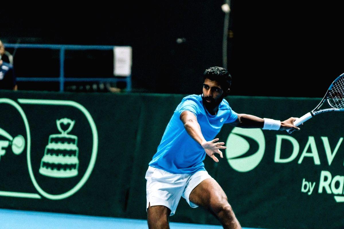 Davis Cup: Prajnesh wins lone consolation as India go down 1-3 (ld)