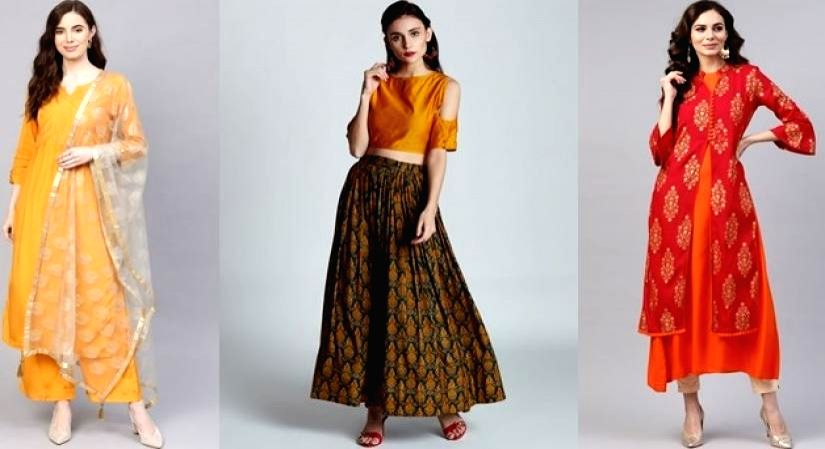 Dazzle at the New Year party with this twist to your ethnic wear
