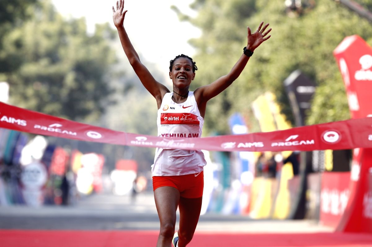 Delhi Half Marathon: Ethiopia's Yehualaw, Walelegn win elite races in record time