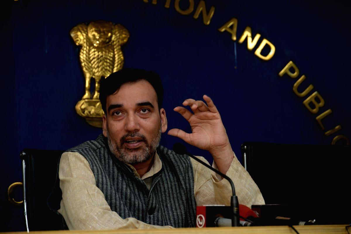 Delhi Rural Development Minister Gopal Rai. (File Photo: IANS)