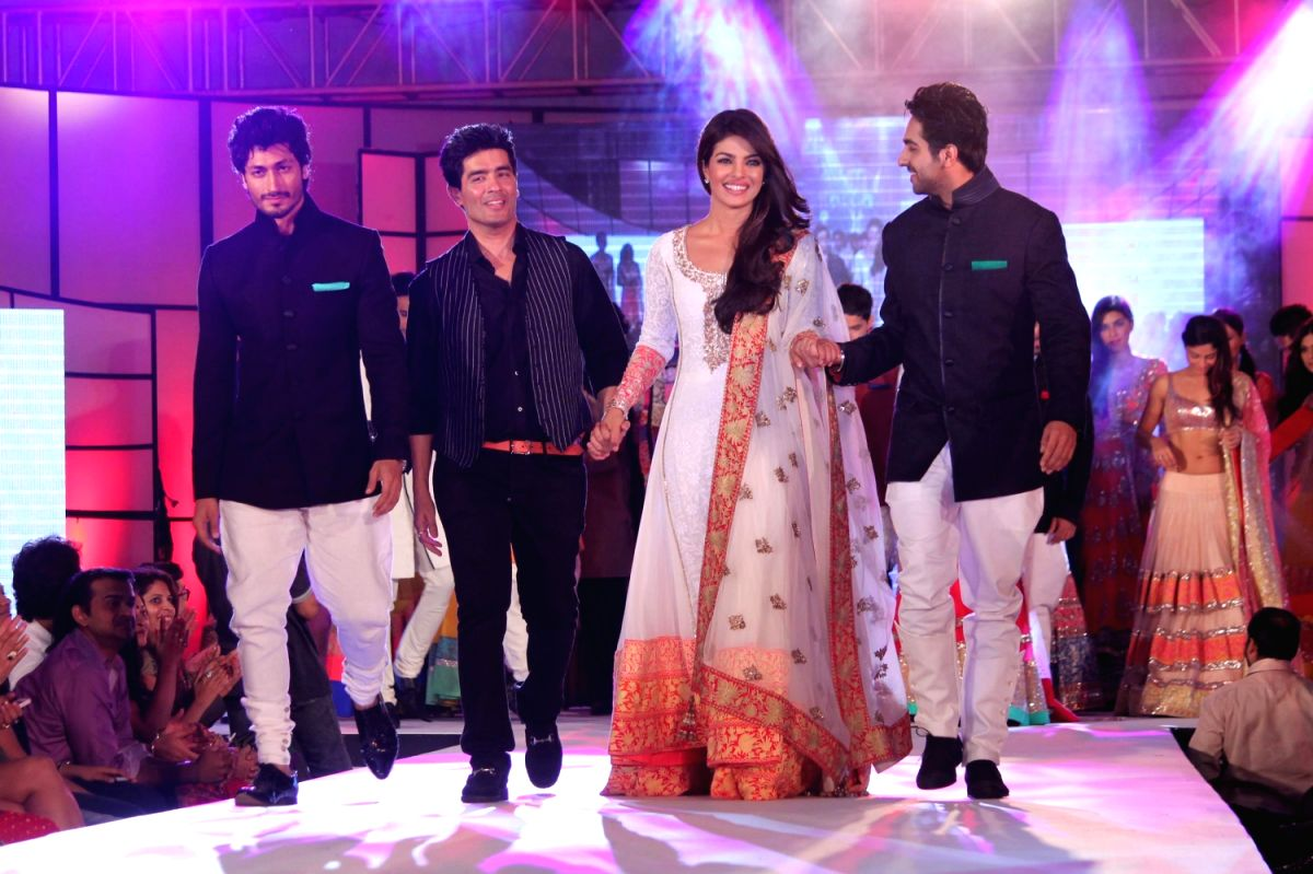 Designer Manish Malhotra, Priyanka Chopra and Ayushmann Khurrana walked the ramp in creations by Shaina NC and Manish Malhotra at the Pidilite-CPAA `Caring with Style` fashion show in Mumbai