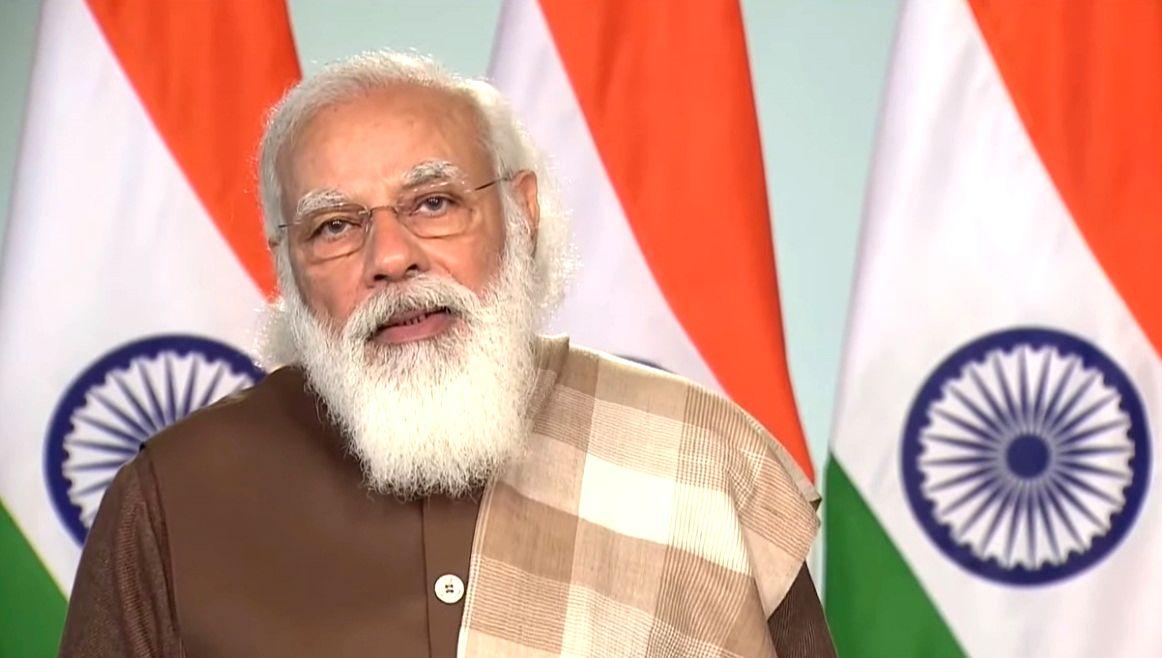 Despite Covid, India serious for infra development: Modi