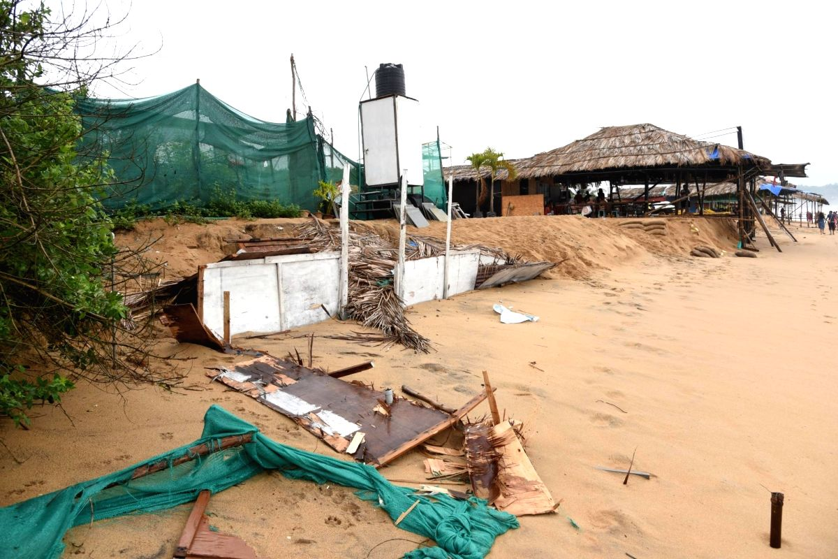 Destruction caused by Cyclone Ockhi in Goa on Dec 5, 2017.