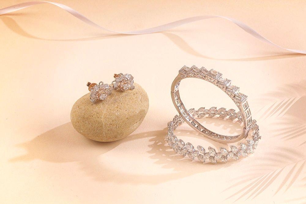 Diamond Bangle & Earring