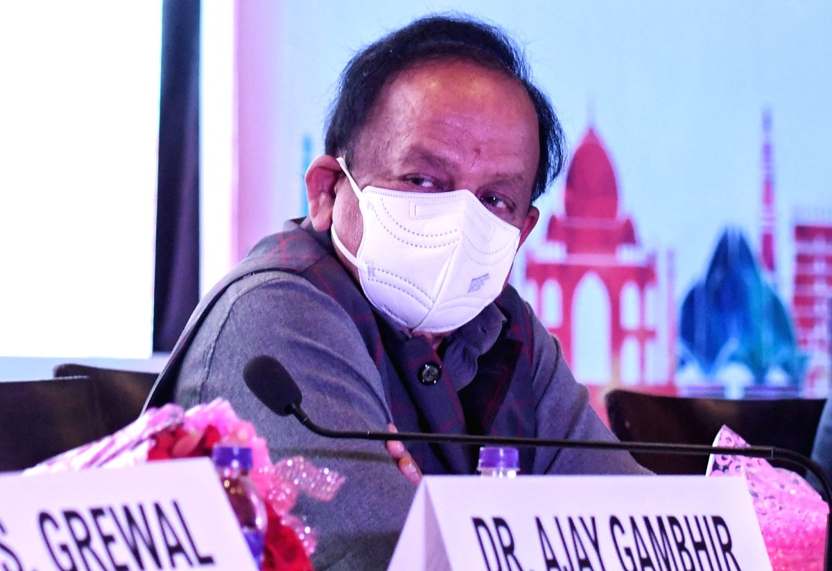 Dr Harsh Vardhan, Union Minister for Health and Family Welfare during the inauguration of the 62nd  Delhi State Annual Medical Conference, in New Delhi on Sunday March 07, 2021   (Photo: IANS/Wasim Sarvar)