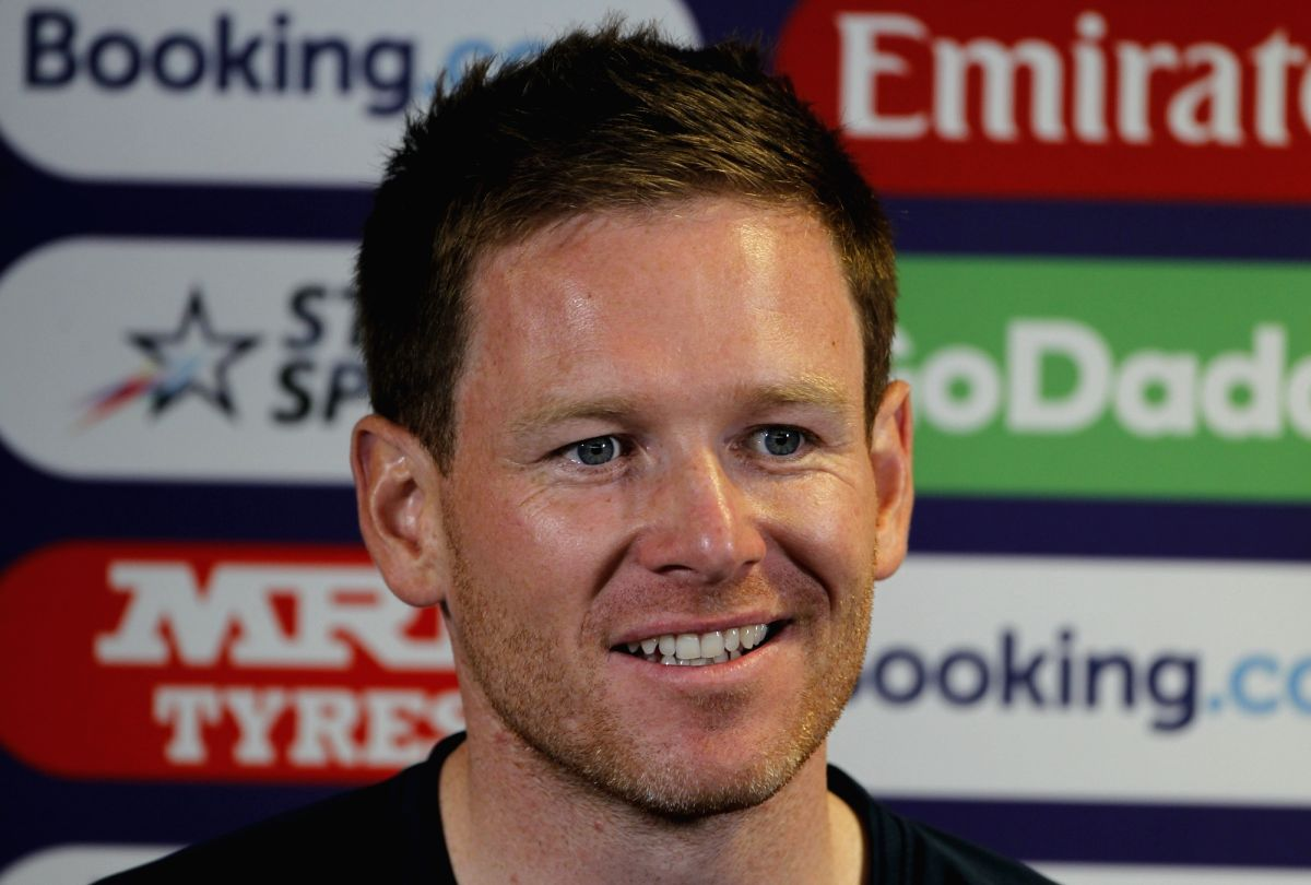 English captain Eoin Morgan addresses a press conference on the eve of England's World Cup 2019 match against India at Edgbaston Stadium in Birmingham, England on June 29, 2019. (Photo: Surjeet Yadav/IANS)