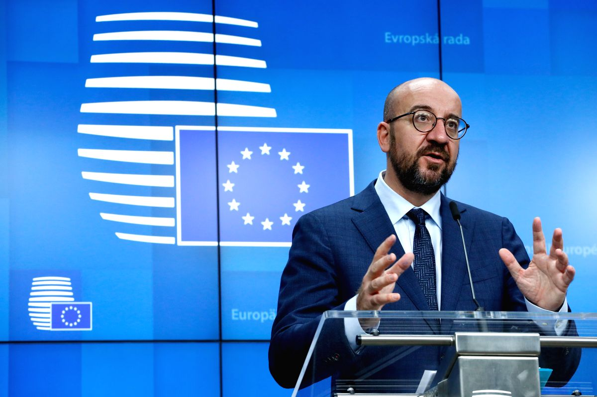 EU leaders condemn 'terrorist attacks' in France