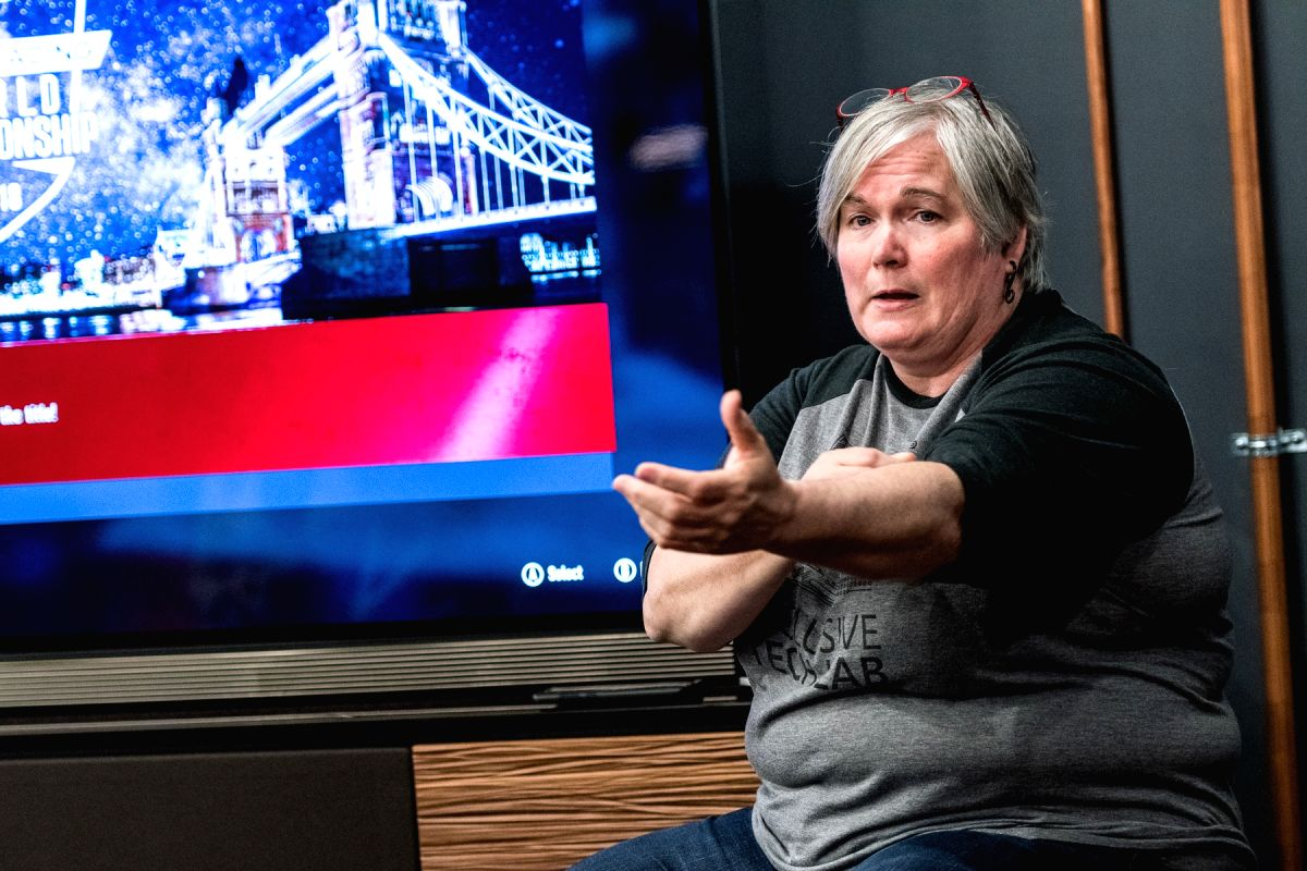 Evelyn Thomas, Senior Programme Manager, Xbox, Microsoft, during an presentation. (Photos: Courtesy, Microsoft).