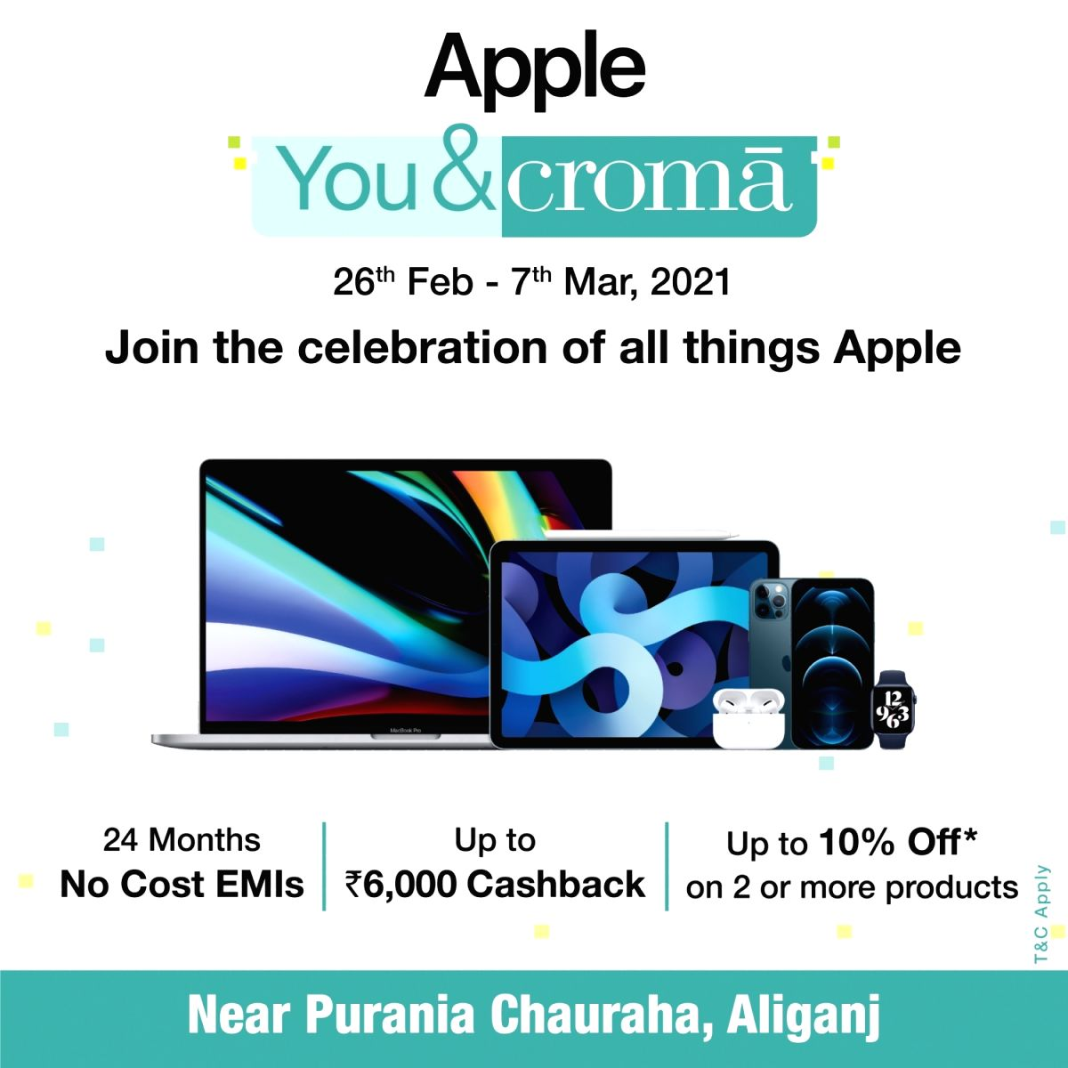 Experience Apple-like never before @Croma with #AppleYou&Croma.