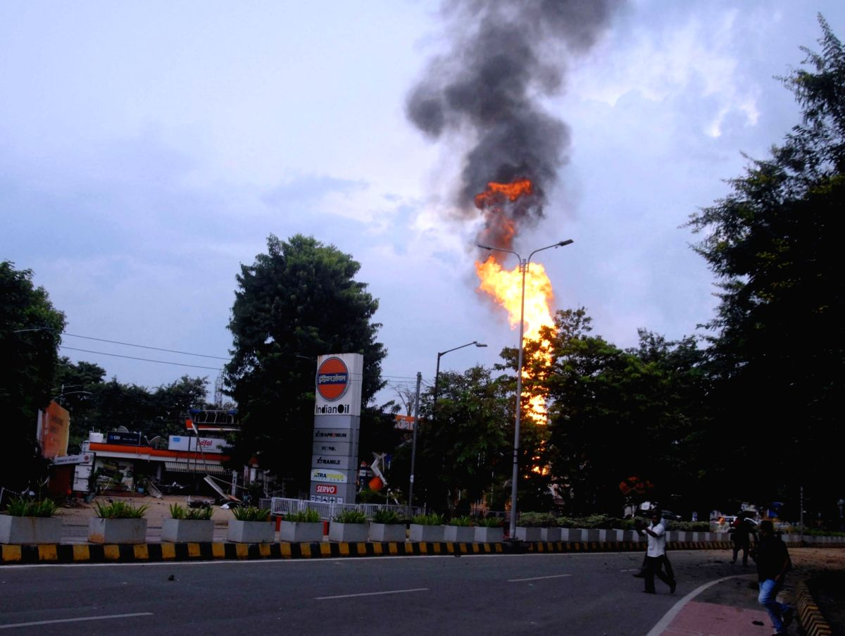 Explosion at fuel pump near Raj Bhawan in Odisha, several injured