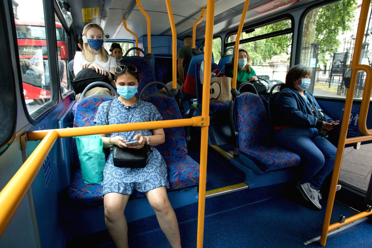 Face masks compulsory on public transport as UK further eases lockdown