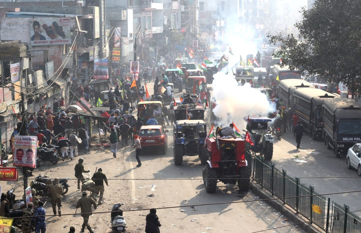 Farmer leaders hold meeting, say violence damaged their cause (Photo: Qamar  Sibtain/IANS)