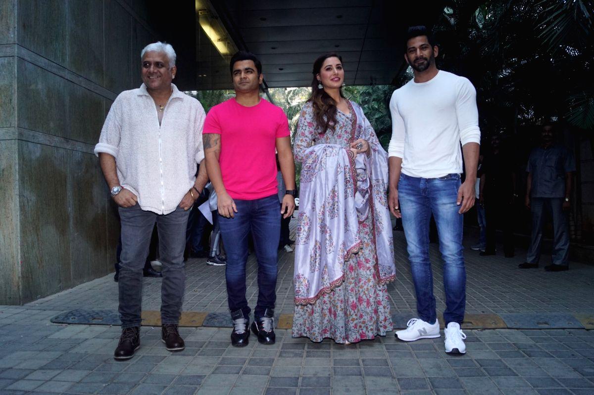 Film director Bhushan Patel, actors Sachiin Joshi, Nargis Fakhri and Vivan Bhatena