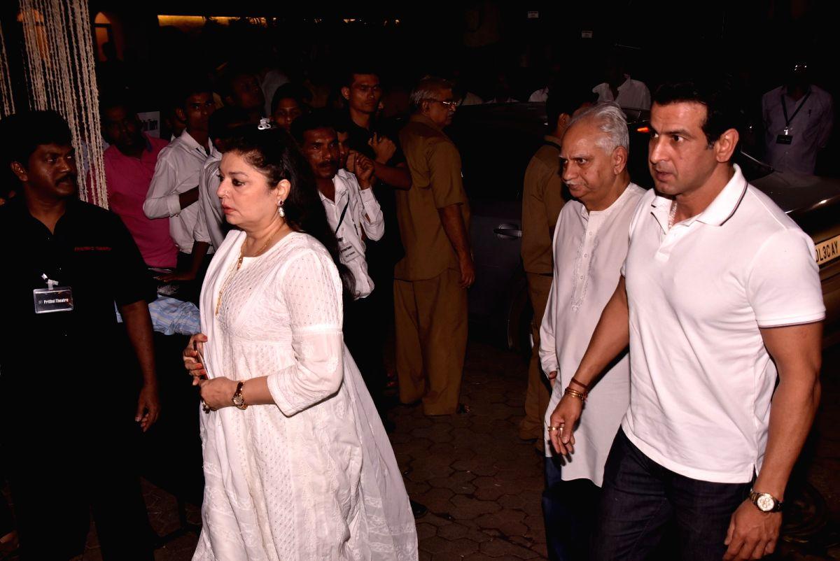 Shashi Kapoor's condolence meet - Ramesh Sippy, Ronit Roy and Shashi Kapoor