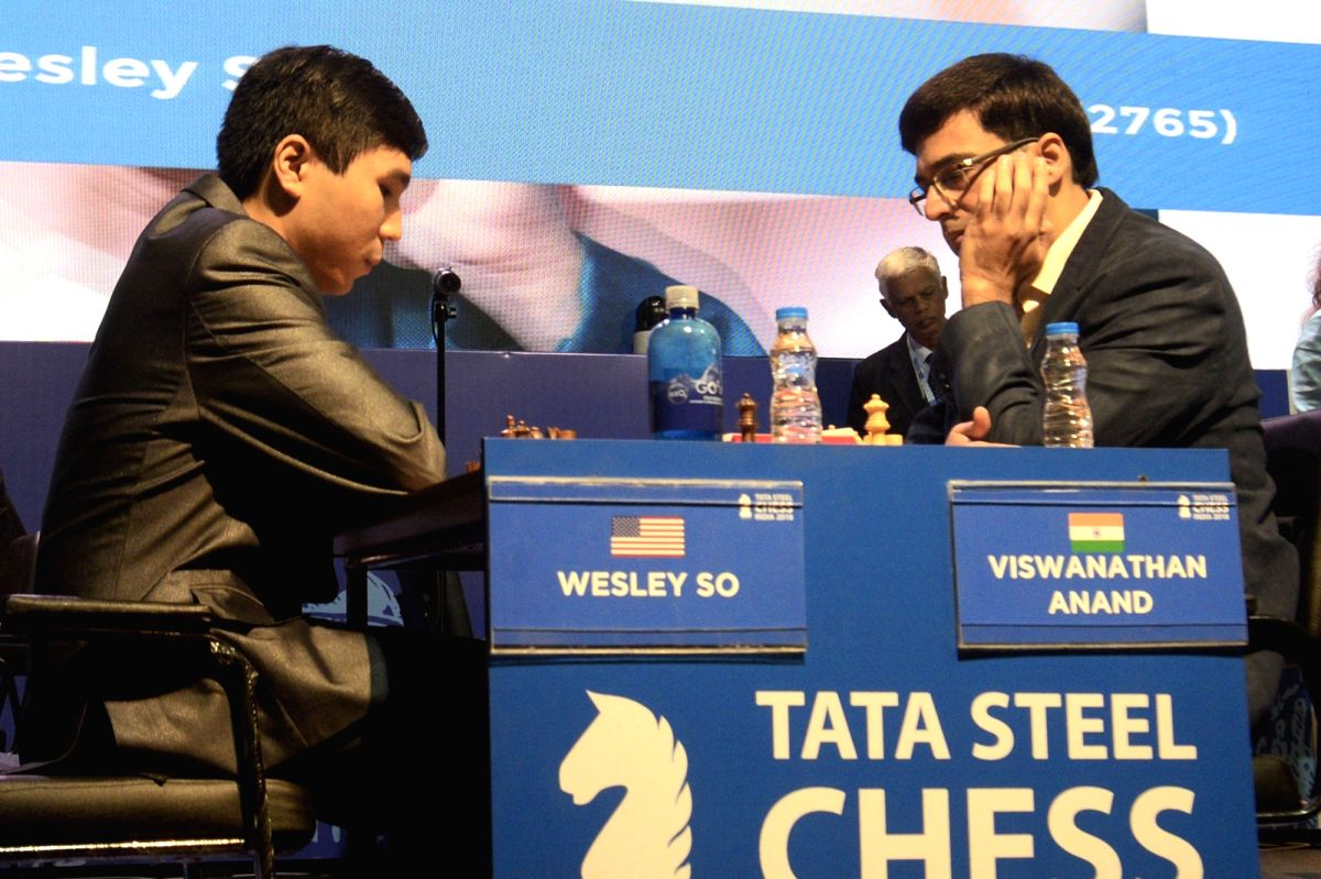 Five-time world champion Viswanathan Anand was beaten by the USA's Wesley So in the second round of the Tata Steel Masters chess meet here on Monday.