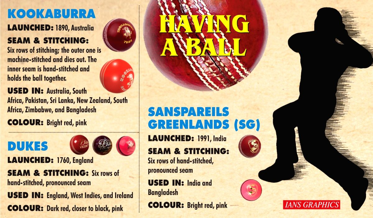 Focus on the cricket ball ahead of day-night Test, vs England   (IANS Infographics)