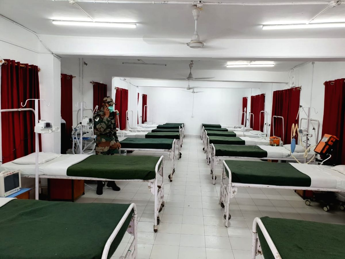 For 50 bedded COVID established by army in Kashmir.