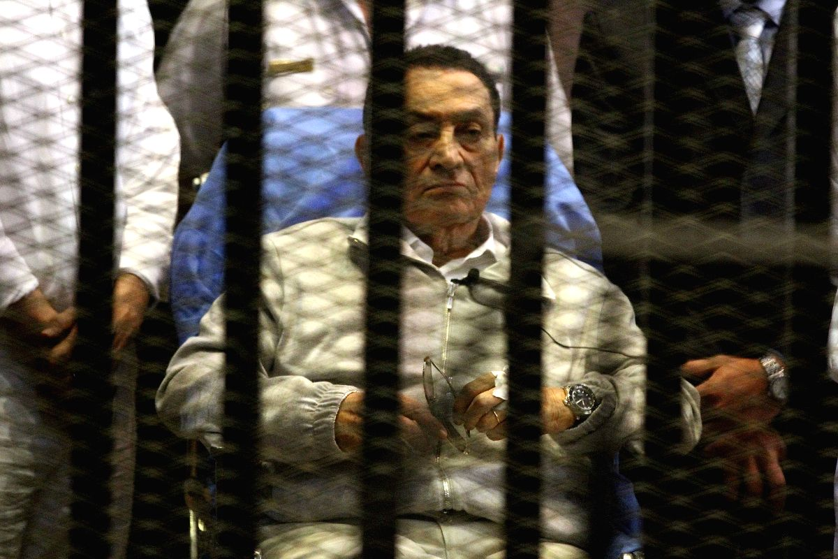 Former President Hosni Mubarak. (Credit Image: © Str/Xinhua/ZUMAPRESS.com)