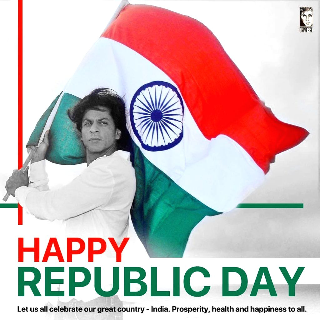 From megastar Amitabh Bachchan to superstar Shah Rukh Khan and actress Kajol, a string of Bollywood celebrities on Sunday wished everyone a Happy Republic Day, urging all to spread love and peace in the nation.