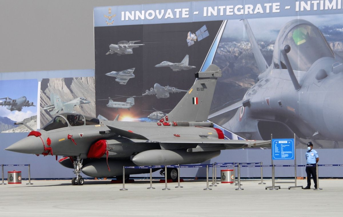 Ghaziabad: The Rafale fighter jet at the Hindon Air Force Station during full dress rehearsals for Air Force Day Parade 2020, in Uttar Pradesh's Ghaziabad on Oct 6, 2020.