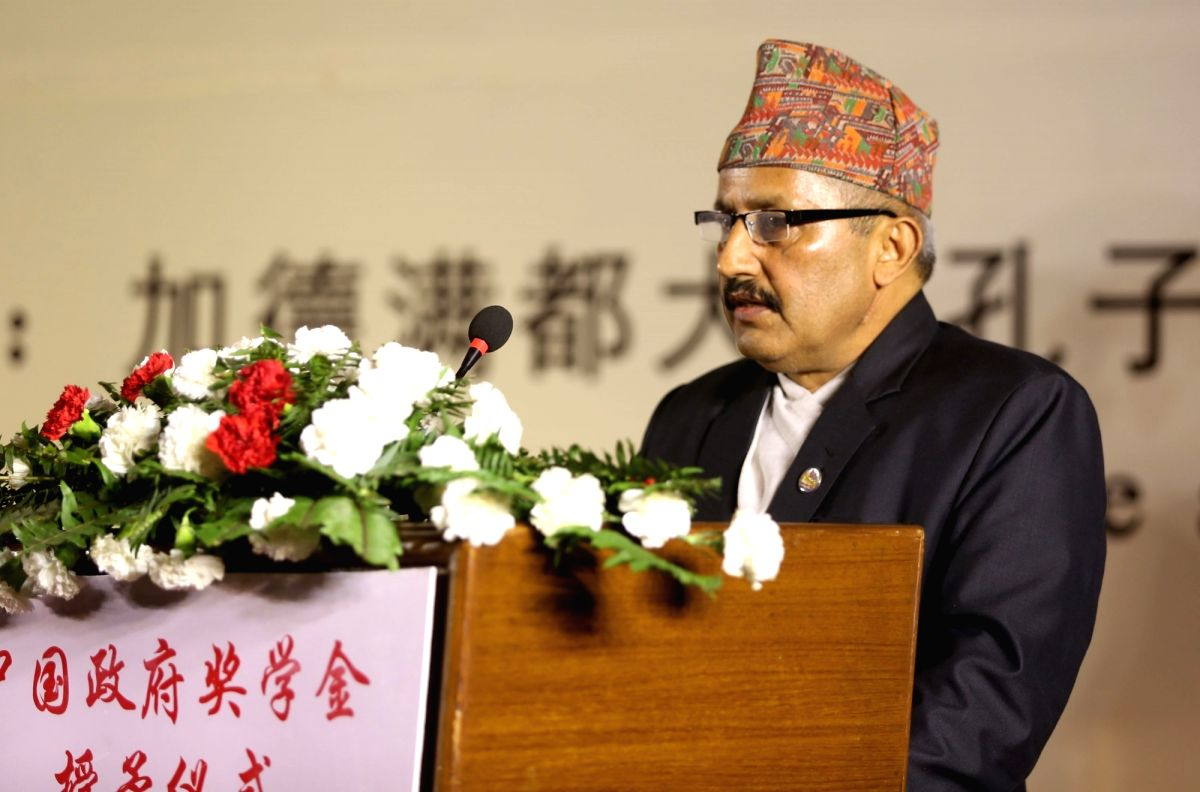 Giriraj Mani Pokharel . (File Photo: Xinhua/Sunil Sharma/IANS)