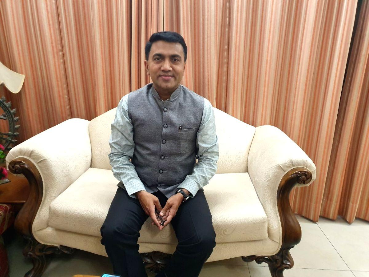 Goa Cm Pramod Sawant.