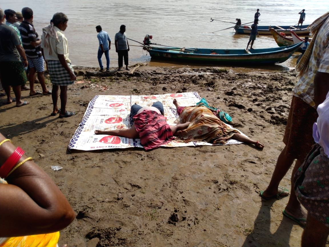 Godavari: The bodies of those who were killed after a boat with about 60 tourists capsized in Godavari river in Andhra Pradesh's East Godavari district on Sep 15, 2019. At least seven persons were killed and many others were missing.