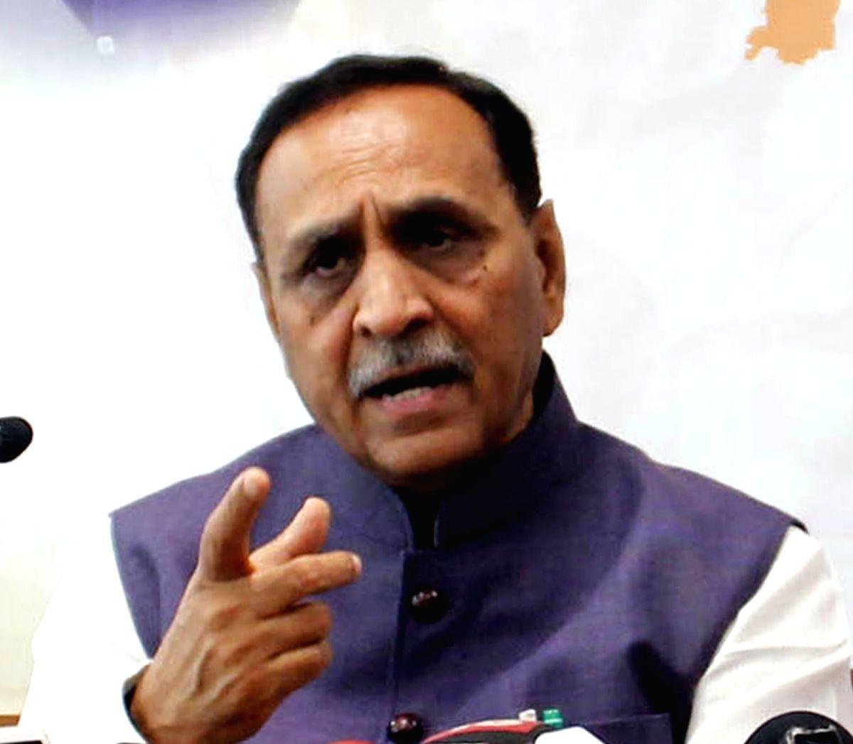Gujartat BJP chief Vijay Rupani. (File Photo: IANS)