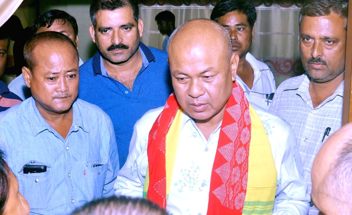 Guwahati: Bodoland People's Front (BPF) chief Hagrama Mohilary during a press conference in Guwahati on May 22, 2016.