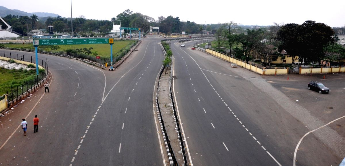 Guwahati: Guwahati comes to a standstill during nationwide shutdown - Janata Curfew - imposed in the wake of increasing cases of COVID-19 (cornavrus), on March 22, 2020.