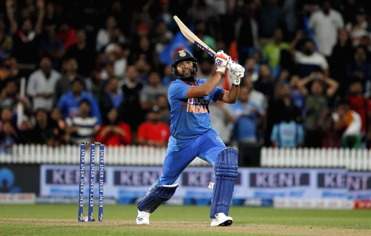 Hamilton: India's Rohit Sharma in action during the third T20I of the five-match rubber between India and New Zealand at Seddon Park in Hamilton, New Zealand on Jan 29, 2020.