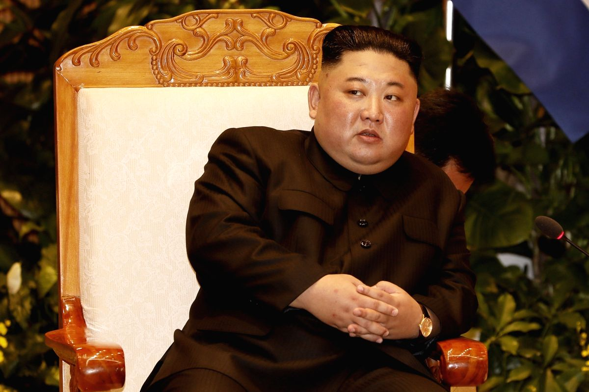 Hanoi: North Korean leader Kim Jong-un holds talks with Vietnamese Prime Minister Nguyen Xuan Phuc (not pictured) at the government building in Hanoi on March 1, 2019, one day after his second summit with U.S. President Donald Trump ended with no dea
