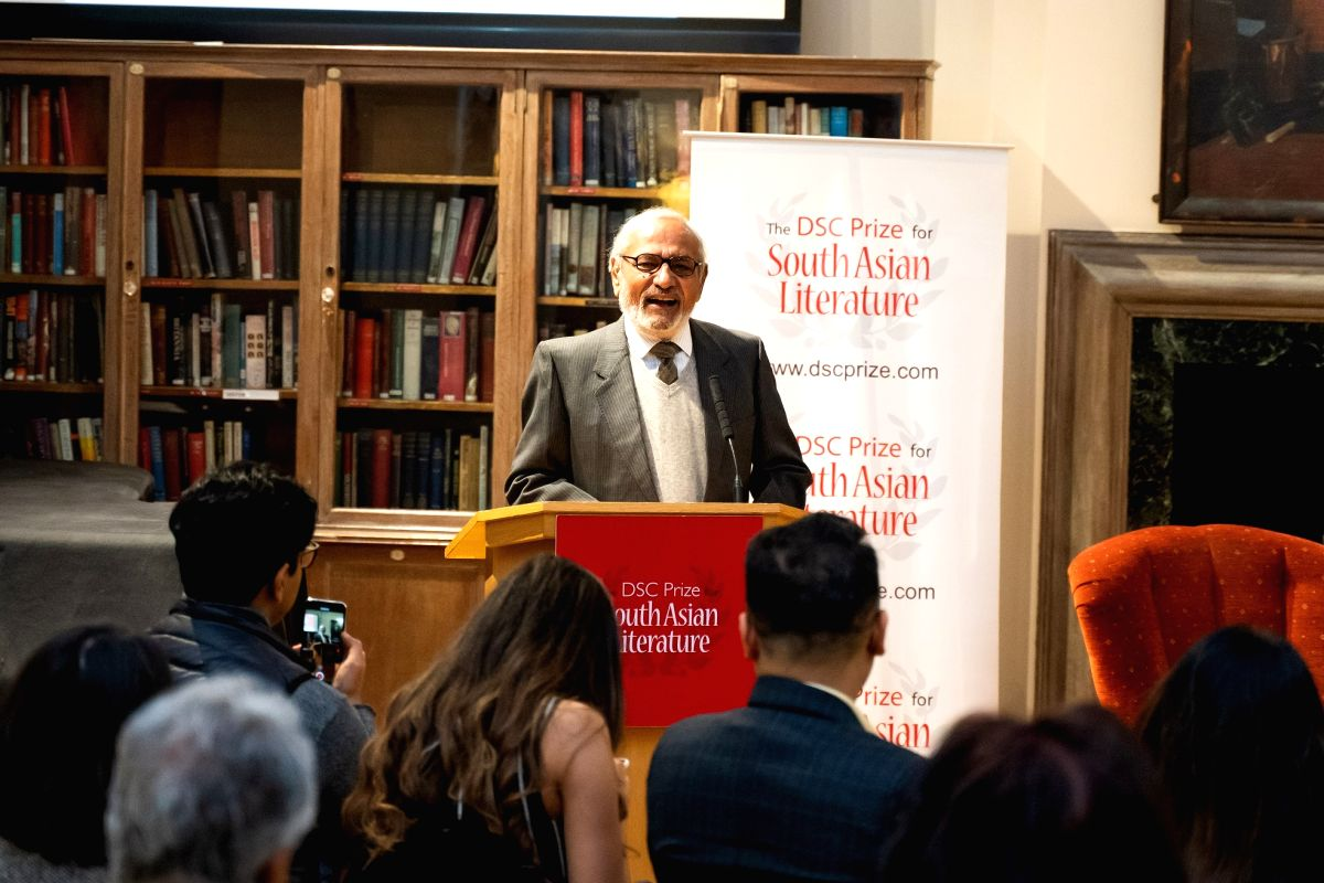 Harish Trivedi, Jury Chair of the DSC Prize 2019, at the Shortlist Announcement event in London