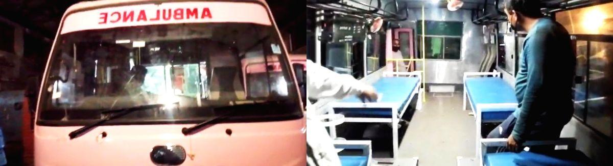 Haryana Roadways converts five mini-buses into ambulances