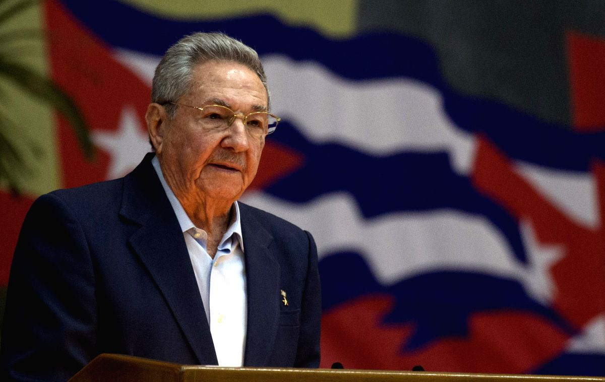 HAVANA, April 17, 2016 - Image provided by Cubadebate shows Cuba's President Raul Castro introducing the Central Report to the 7th Congress of the Communist Party of Cuba (PCC, for its acronym in ...