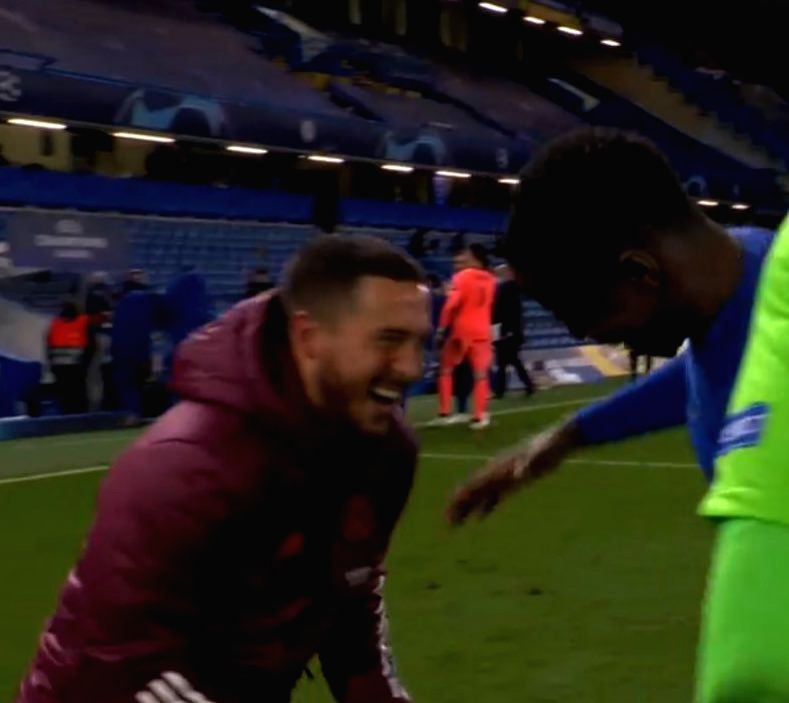 Hazard apologises to Real supporters for laughing with Chelsea players