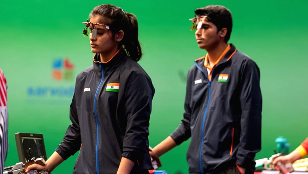 Heartbreak for India as Chaudhary-Manu pair finishes 7th in air pistol mixed team.