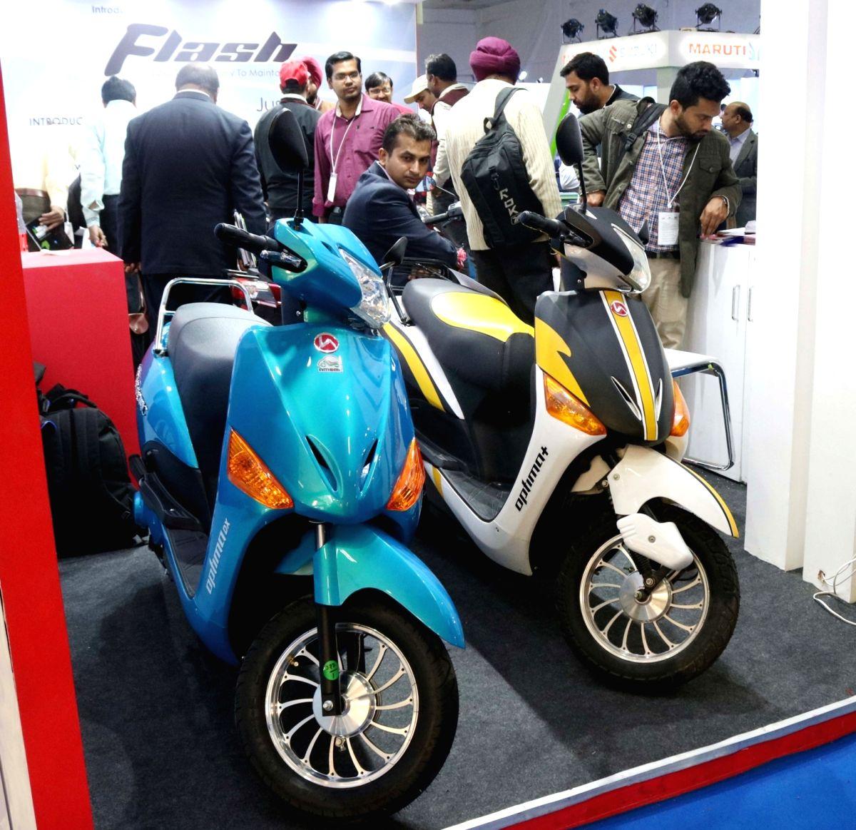 Hero Electric Optima Plus on display