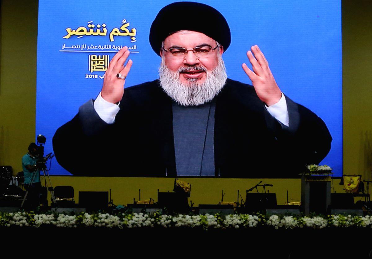 Hezbollah's leader Sayyed Hassan Nasrallah. (Xinhua/Bilal Jawich/IANS)