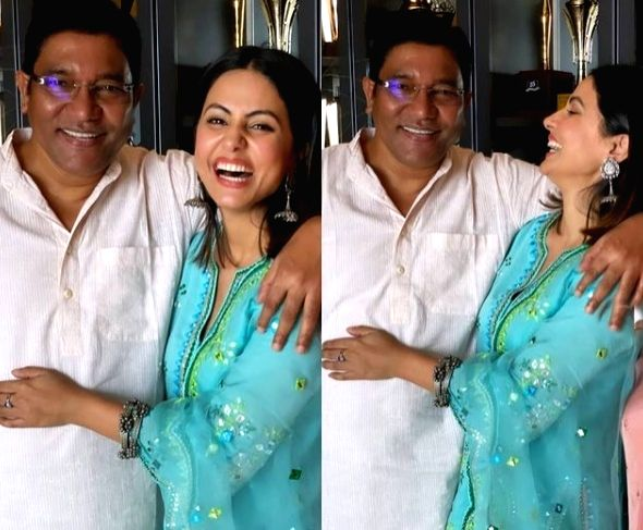 Hina Khan shares images of her late 'full of life Daddy' ( Credit : hina khan/instagram)