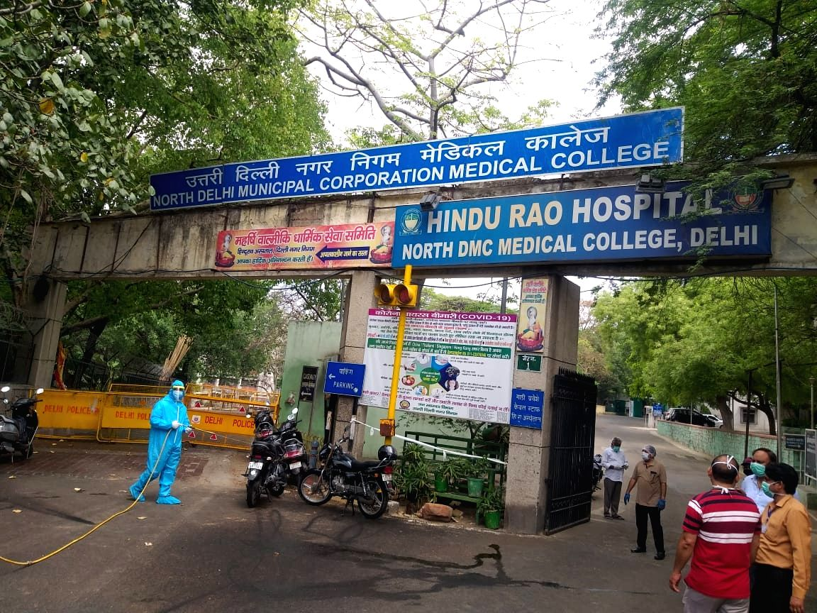 Hindu Rao hospital temporarily stops taking new patients. This is after a nurse was found positive, hospital authorities say until the trail is traced, no new patient will be taken in.
