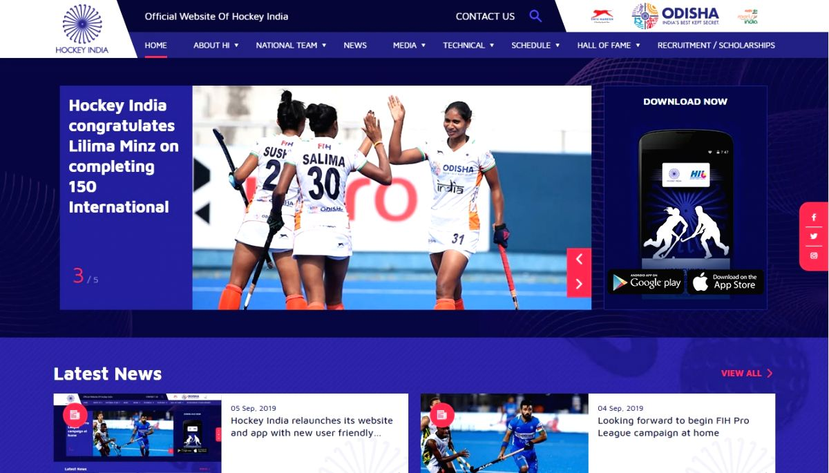 Hockey India has revamped its website and app with a new user-friendly features. The website will be a one-stop shop for all the Indian Hockey fans. From the latest news to match updates to player statistics - the fans can stay up to date about India