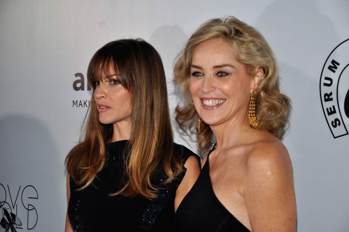 Hollywood actresses Sharon Stone