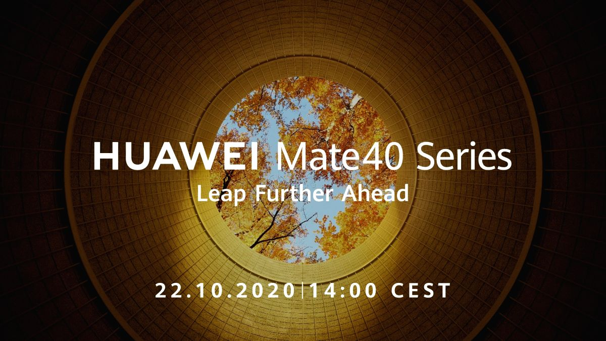 Huawei to debut its Mate 40 smartphones on October 22.