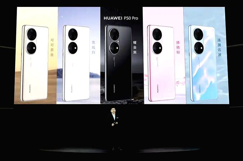 Huawei unveils P50, P50 Pro smartphones in China.