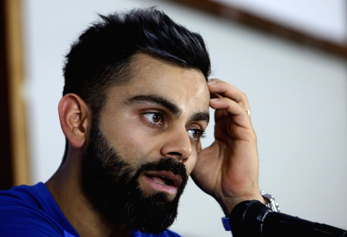 Hyderabad: India captain Virat Kohli addresses a press conference ahead of the first ODI match against Australia at Rajiv Gandhi International Stadium in Hyderabad on March 1, 2019. (Photo: Surjeet Yadav/IANS)