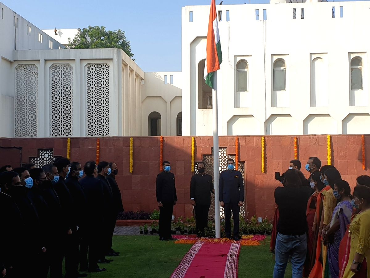 I-Day celebrations at Indian Consulate General in Dubai. (Credit: Twitter/CGIDubai)