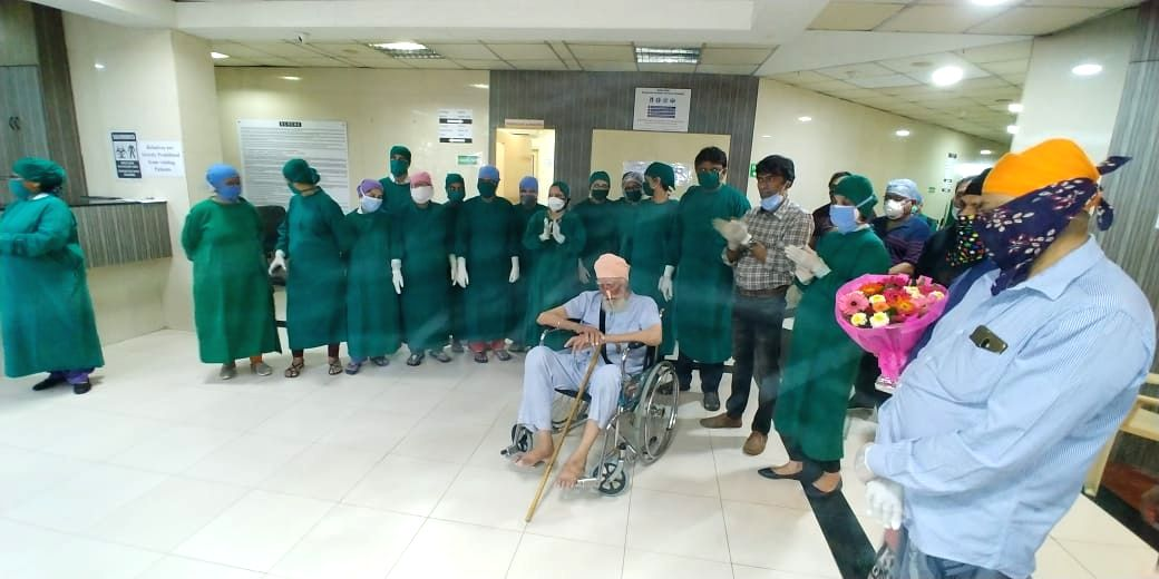 In a huge relief for his anxious family comprising many great-grandchildren, a sprightly 103-year old Sikh man here vanquished Covid-19 and returned home on Monday to savour the victory, close relatives said.